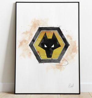 Wolverhampton Wanderers Badge art print