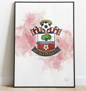 Southampton FC Badge art print