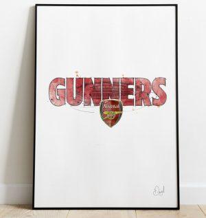 Arsenal FC - Gunners art print