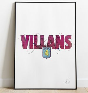 Aston Villa - Villans art print