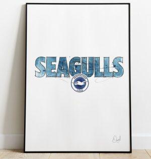 Brighton and Hove Albion - Seagulls art print