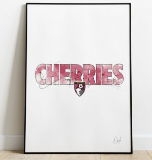 AFC Bournmouth - Cherries art print