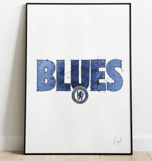 Chelsea FC - Blues art print