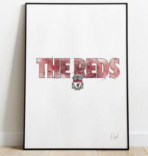 Liverpool FC - Reds art print