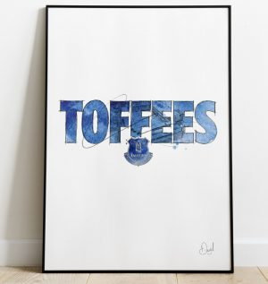 Everton FC - Toffees art print