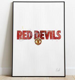 Manchester United - Red Devils art print