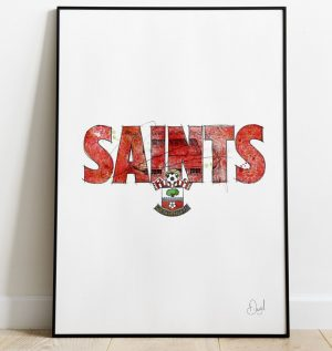 Southampton FC - Saints art print
