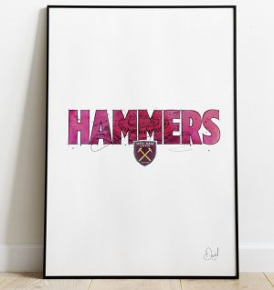 West Ham United - Hammers art print