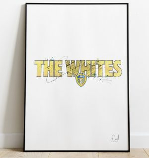 Leeds United - The Whites art print