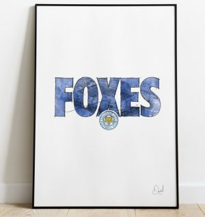 Leicester City - Foxes art print