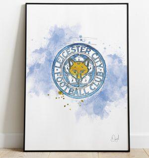 Leicester City Badge art print