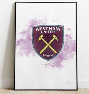 West Ham United Badge art print