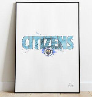 Manchester City - Citizens art print