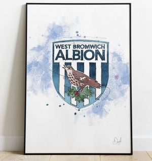 West Bromwich Albion Badge art print