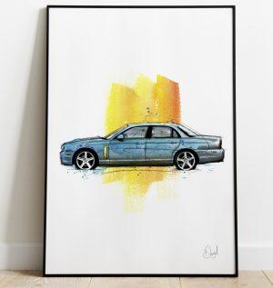 Jaguar XJR - Who shot XJR art print