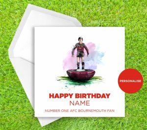 AFC Bournemouth, Subbuteo, personalised birthday card