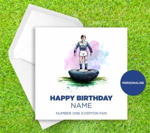 Everton, Subbuteo, personalised birthday card