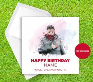 Liverpool FC, Jurgen Klopp, personalised birthday card