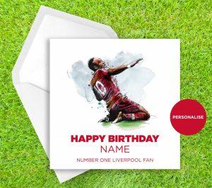 Liverpool FC, Sadio Mané, personalised birthday card