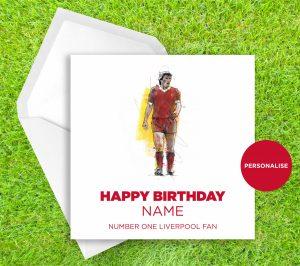 Liverpool FC, Kenny Dalglish, personalised birthday card