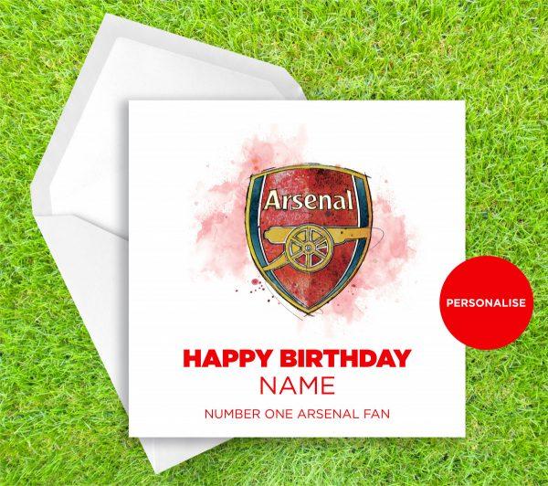 00244 Dm Arsenal Badge Greetingscard Greetingscard 1 Web