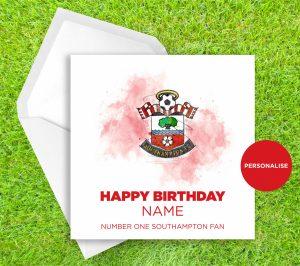 Southampton, Badge, personalised birthday card