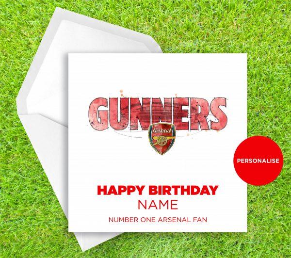 00292 Dm Arsenal Gunners Greetingscard Greetingscard 1 Web