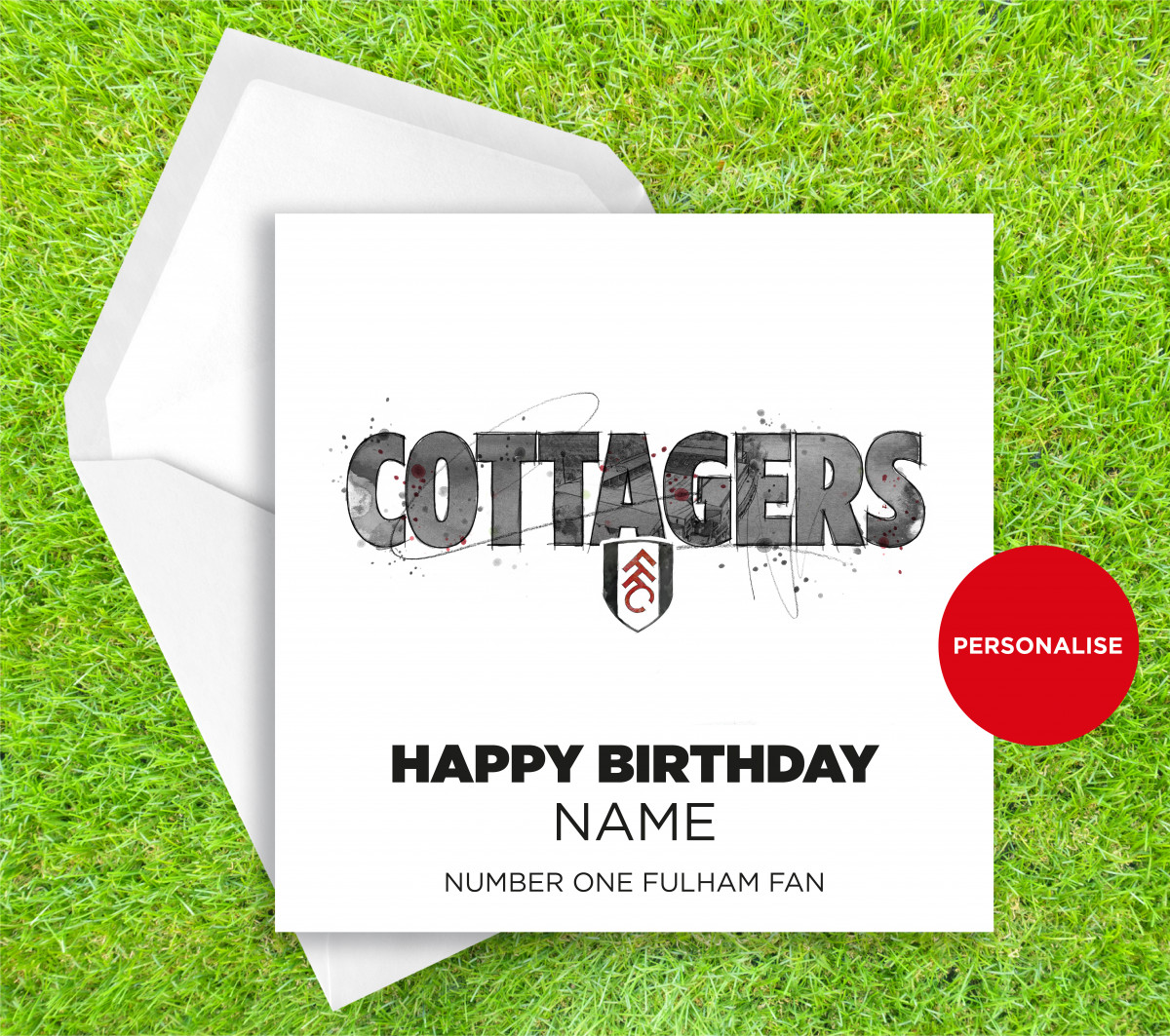 00307 Dm Fulham Cottagers Greetingscard Greetingscard 1 Web
