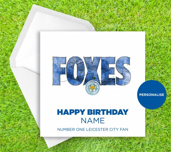 00311 Dm Leicester City Foxes Greetingscard Greetingscard 1 Web