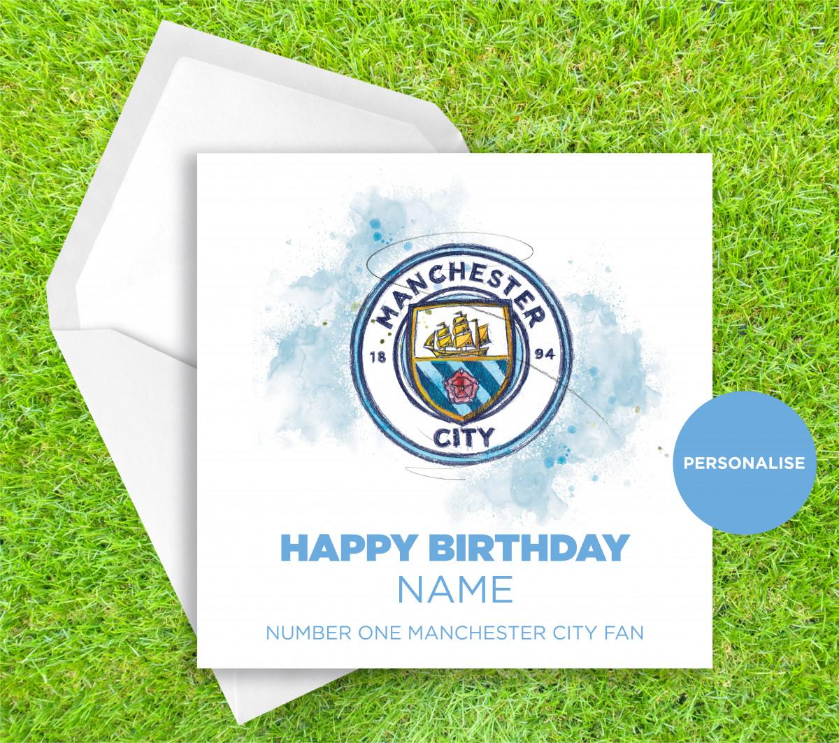0254 Dm Manchester City Badge Greetingscard Greetingscard 1 Web