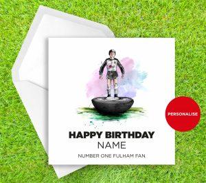Fulham, Subbuteo, personalised birthday card