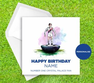 Crystal Palace, Subbuteo, personalised birthday card