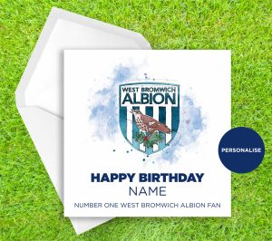 West Bromwich Albion, Badge, personalised birthday card