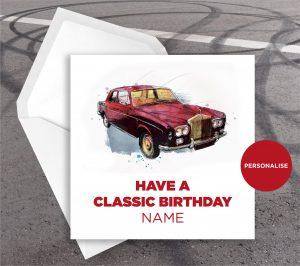 Rolls Royce, personalised birthday card