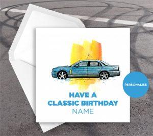 Jaguar XJR personalised birthday card