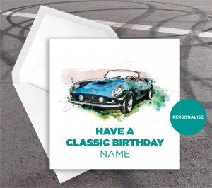 Ferrari GTO, personalised birthday card