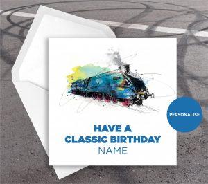 LNER Mallard, personalised birthday card