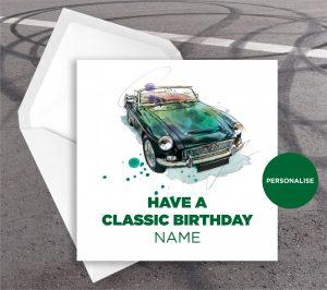 MGC, personalised birthday card