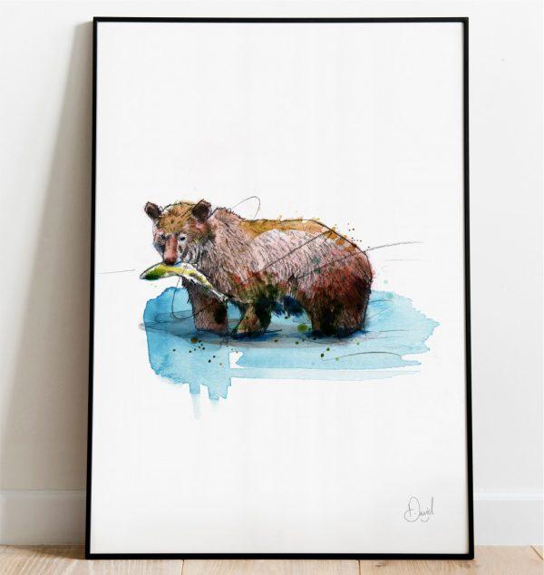 0314 Dm Bearly Fishing Print Frame Port Web