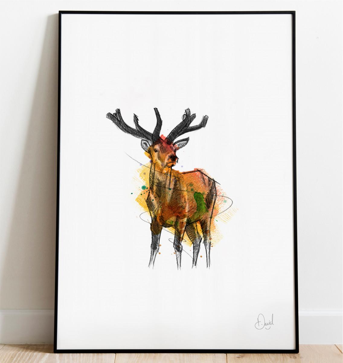0317 Dm Nice To See You Deer Print Frame Port Web
