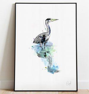 Keep your Heron - Bird art print