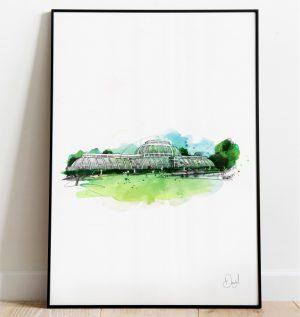 London - Kew Gardens, Palm House art print
