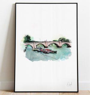 London - Richmond Bridge art print
