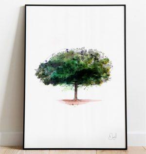 That Old Chestnut - Tree art print
