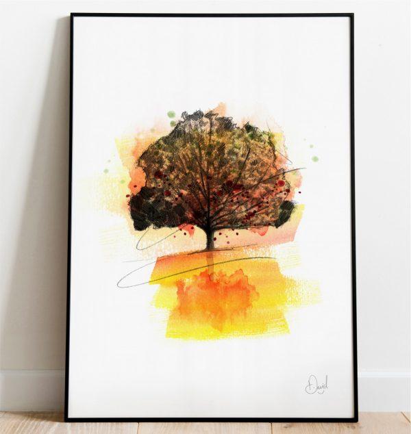 0325 Dm Autumnal Tree Print Frame Port Web