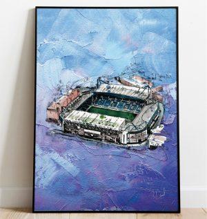 Chelsea FC - Stamford Bridge on oil, special edition art print