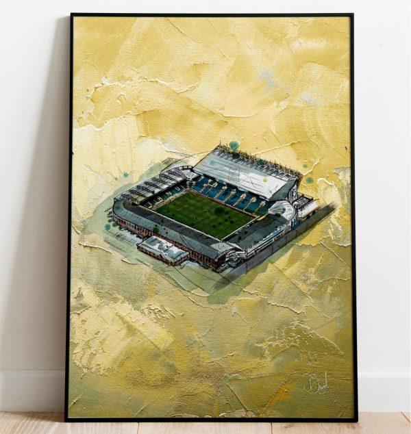 0328 Leeds United Elland Road In Oil Print Frame Port Web