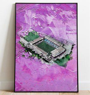 Burnley FC - Turf Moor on oil, special edition art print
