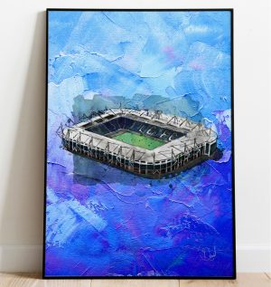 Leicester City - King Power Stadium on oil, special edition art print