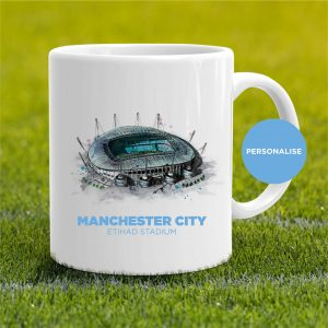 Manchester City - Etihad Stadium, personalised Mug